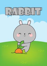 Love Kawaii Gray Rabbit Theme