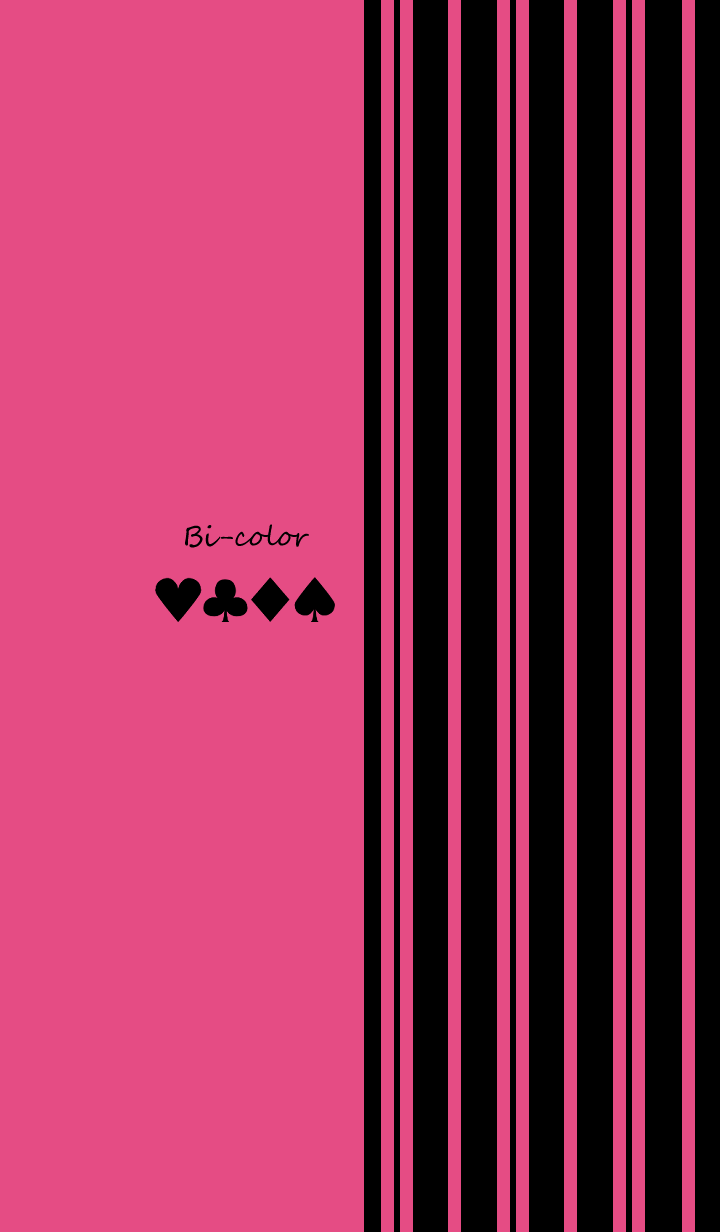 Bi-color -Pink stripe-