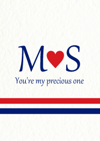 M&S Initial -Red & Blue-