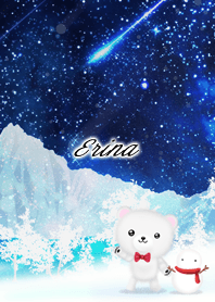 Erina Polar bear winter night sky