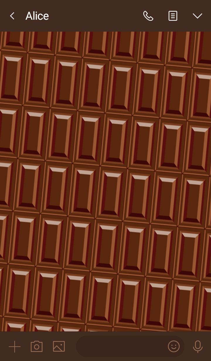 Bar of chocolate -Milk chocolate-