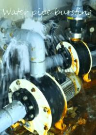 ธีมไลน์ Water pipe bursting