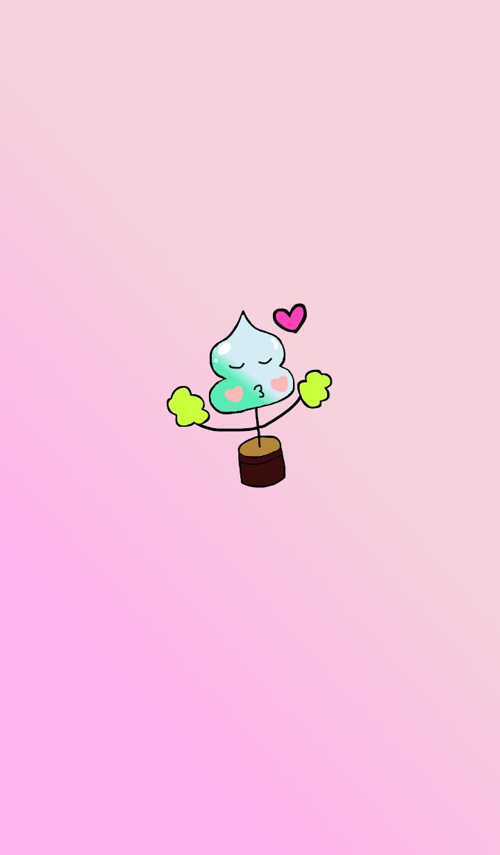 植木鉢コンウちゃん ピンクベージュC