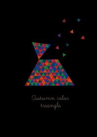 Autumn color triangle
