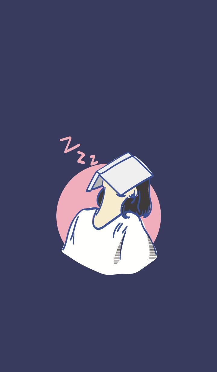 Sleepy Girl in the nigt