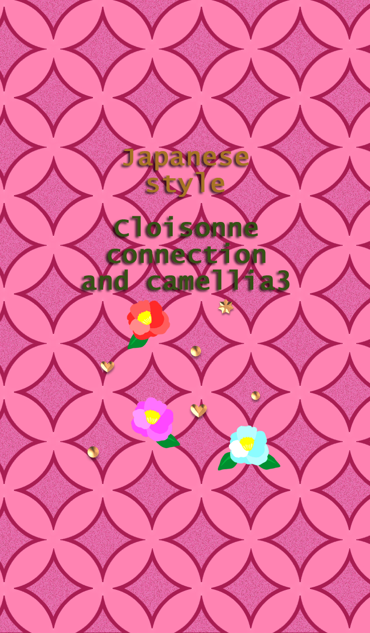 Japanese style<Cloisonne and camellia3>