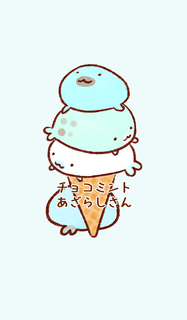 Mint chocolate chip color seals#cool