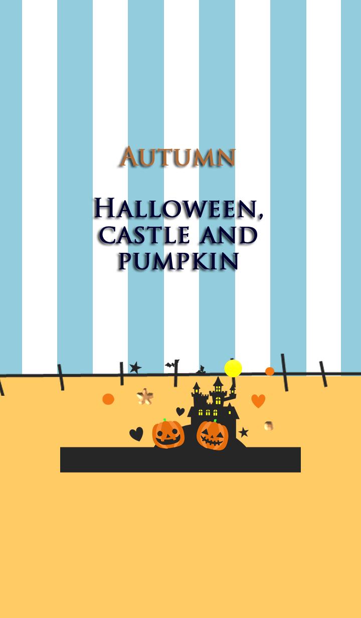 Autumn(Halloween, castle and pumpkin)