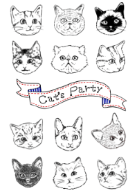 Cat's Party ~Three colo...