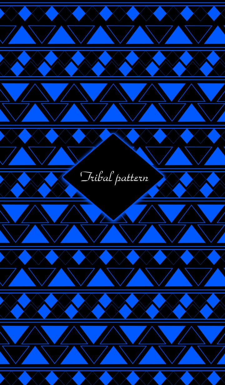 Tribal pattern -Blue- #cool