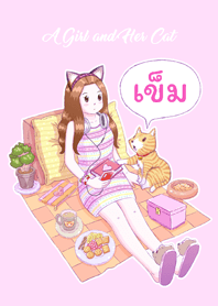 A Girl and Her Cat [Khem] (Pink)