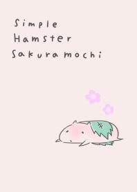 Simple hamster sakura mochi
