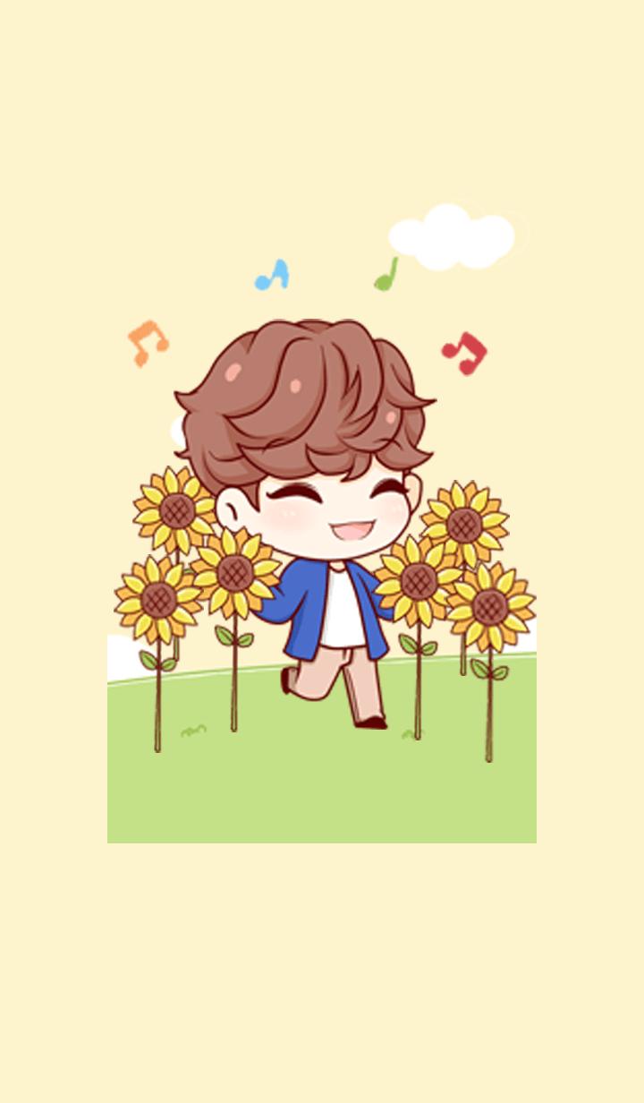 NaNa with Sunflowers