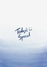 Watercolor gradation blue smile23