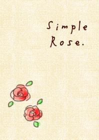 簡單的玫瑰米色