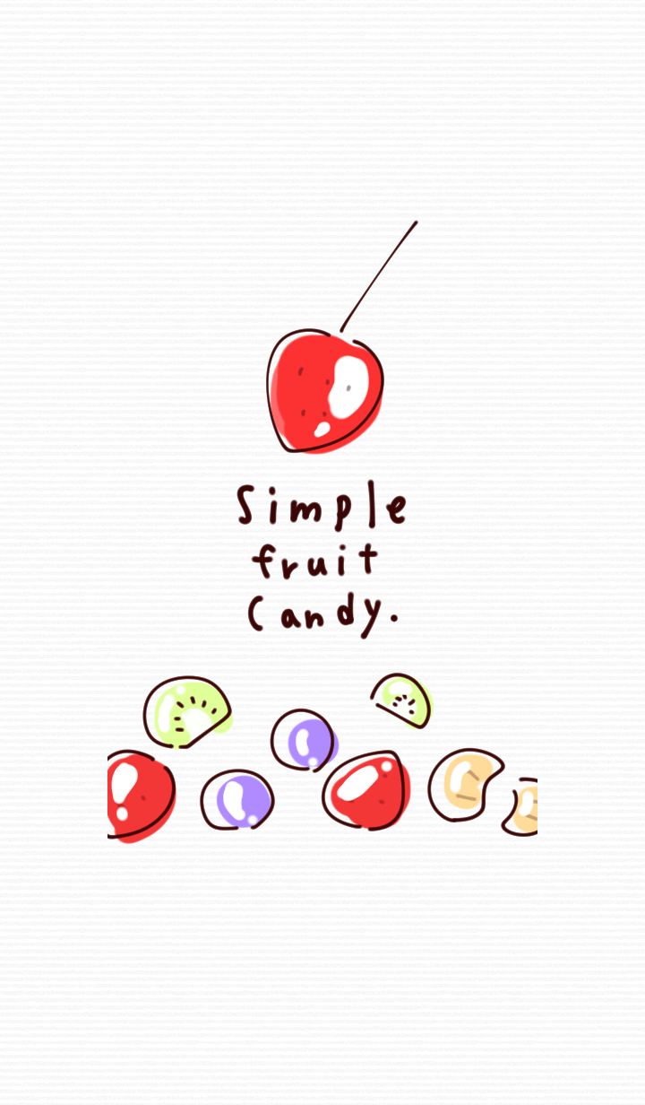Simple fruit candy