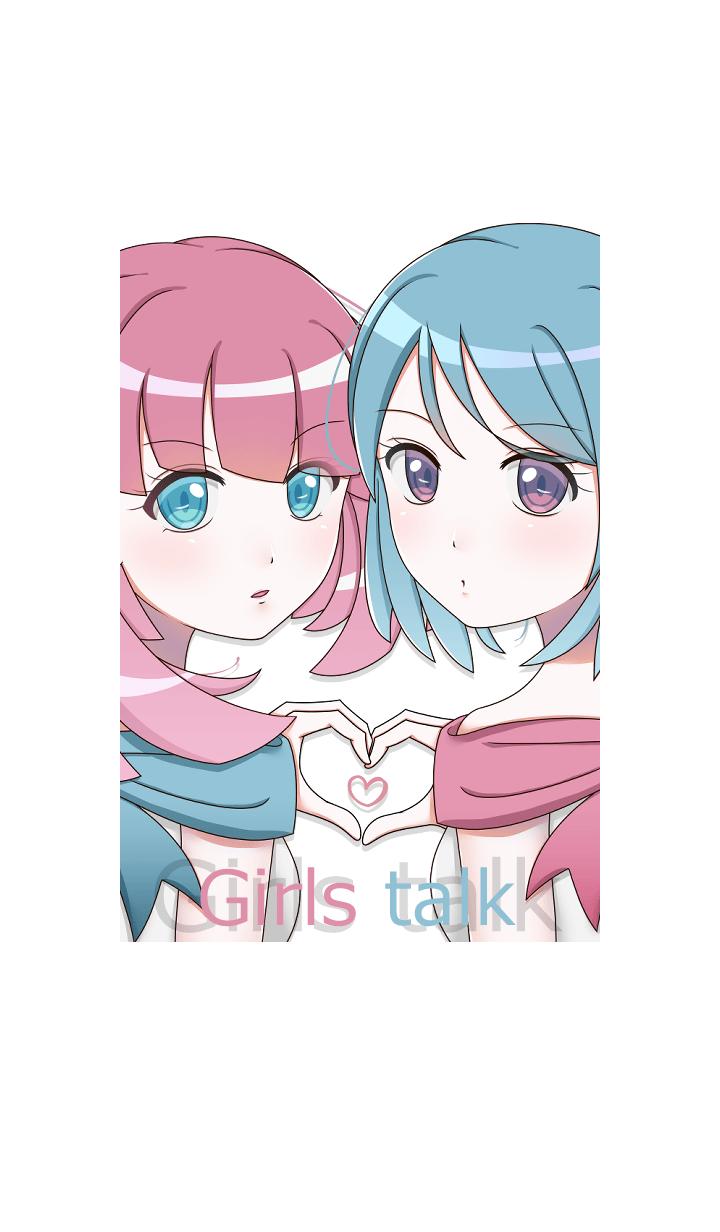 Girls talk -Pink & Blue-