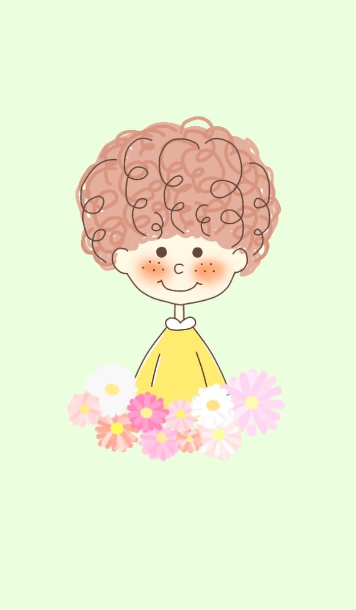 fluffy hair girl