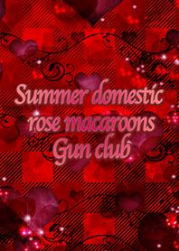 Summer domestic rose macaroons Gun club
