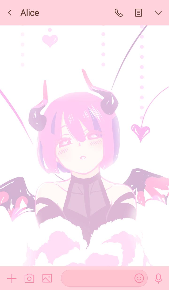 ICHIGOMILK 분홍색 소악마