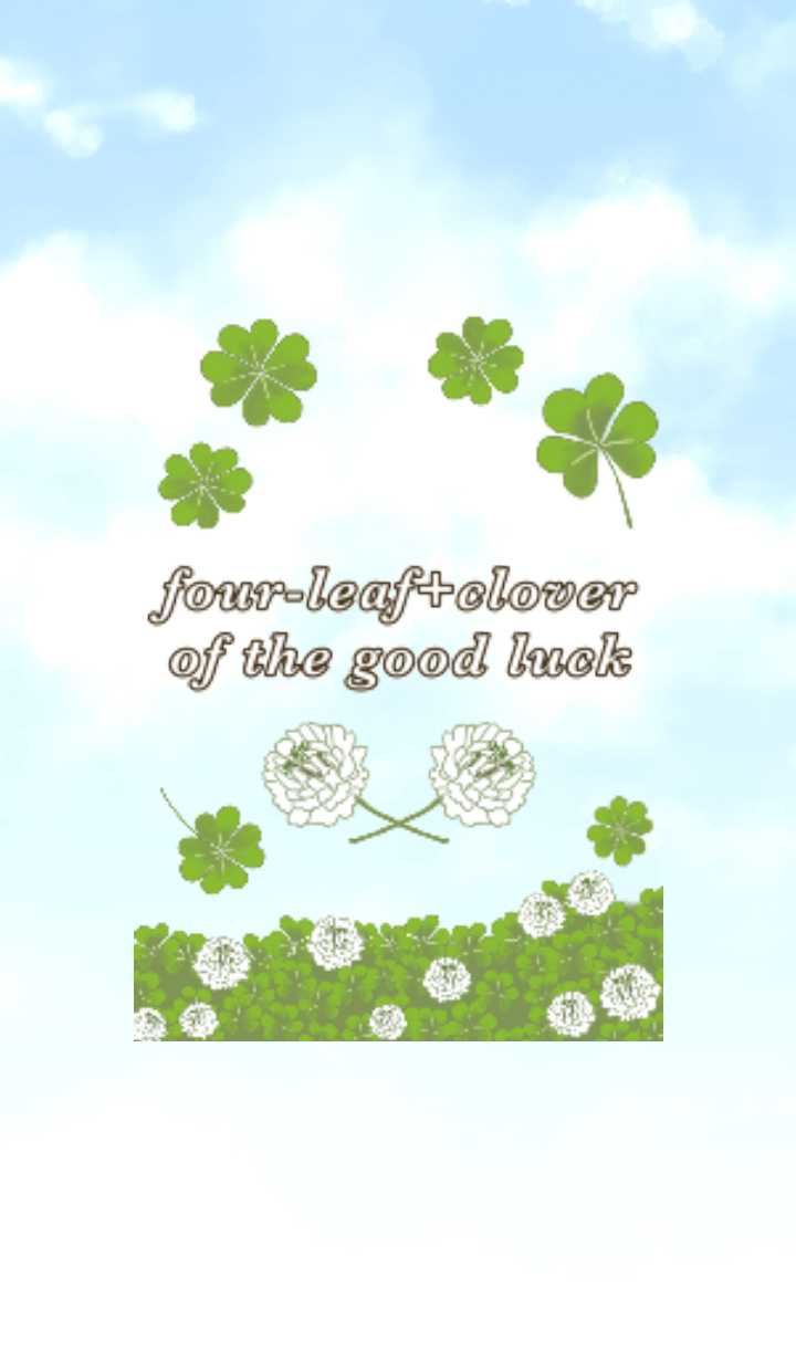 four-leaf+clover of the good luck