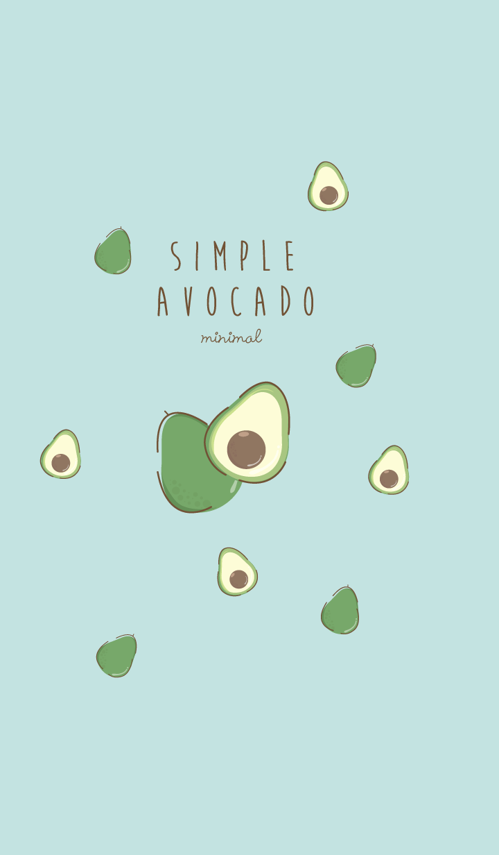 Avocado Minimal blue-pink (Simple ver.)