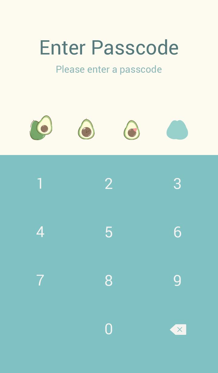 Avocado Minimal blue-pink (Simple ver.)