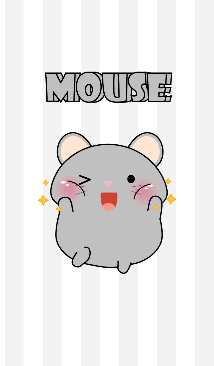 Oh! I'm Cute Grey Mouse