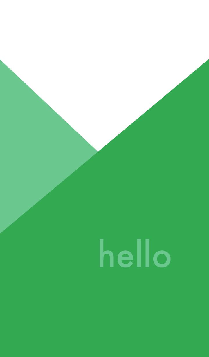 hello - グリーン