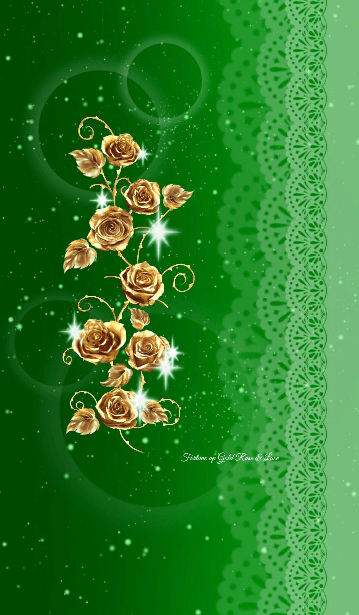 Fortune up Gold Rose & Lace Green ver.