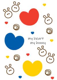 Bunny & Three color heart