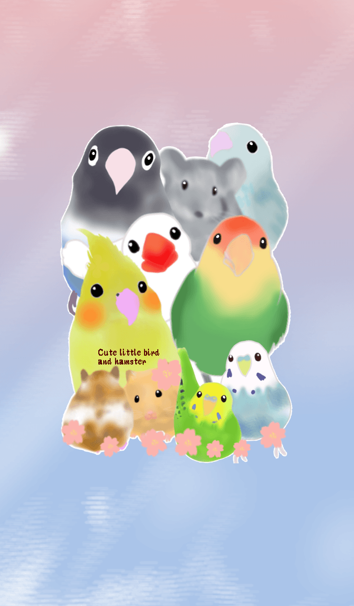 Many cute animal Little Bird hamster