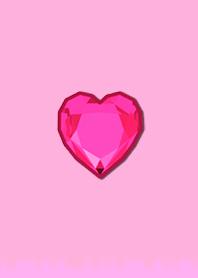 Simple Diamond Heart 104