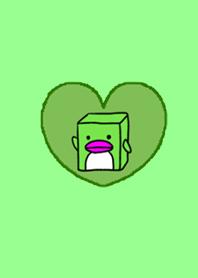 Box Penguin Heart Green