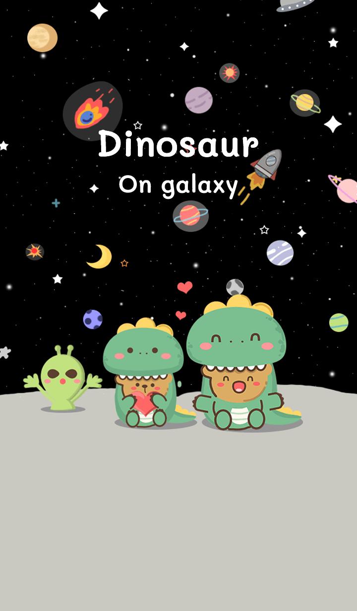 Dinosaur on galaxy.