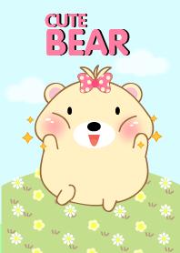 Cute Girl fat Bear theme