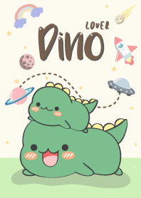 Dino Lover. (love green)