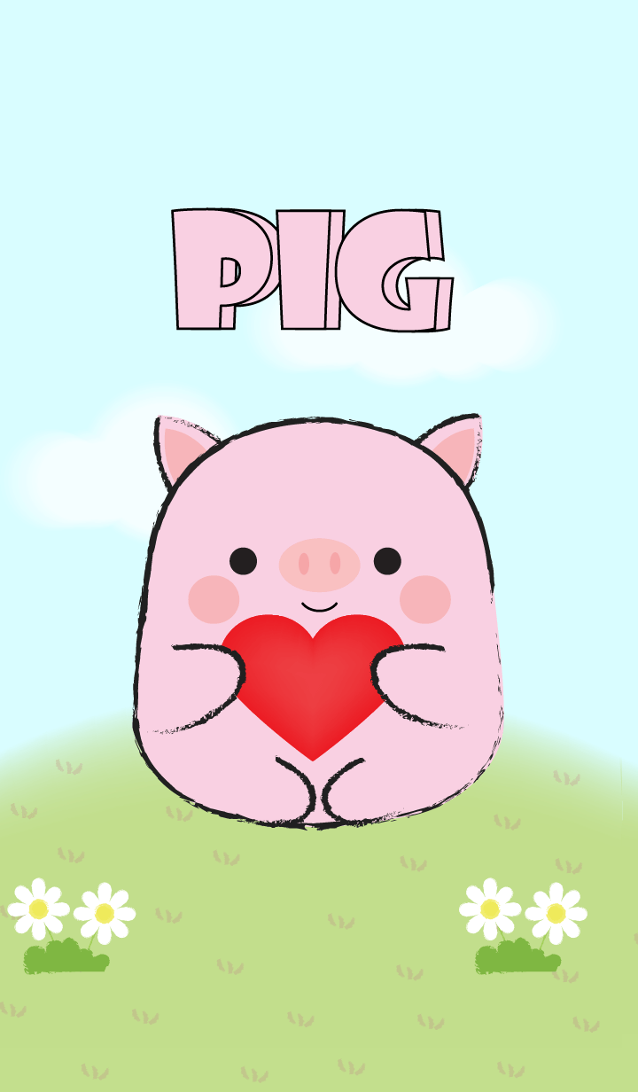 My Fat Cute Pink Pig Theme