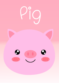 Simple Lovely Pink Pig Theme Vr.2