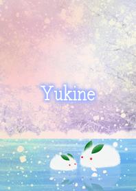 Yukine Snow rabbit on ice