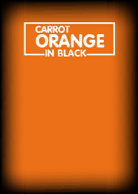 Carrot Orange & Black Theme