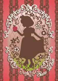Snow White Silhouette Red -