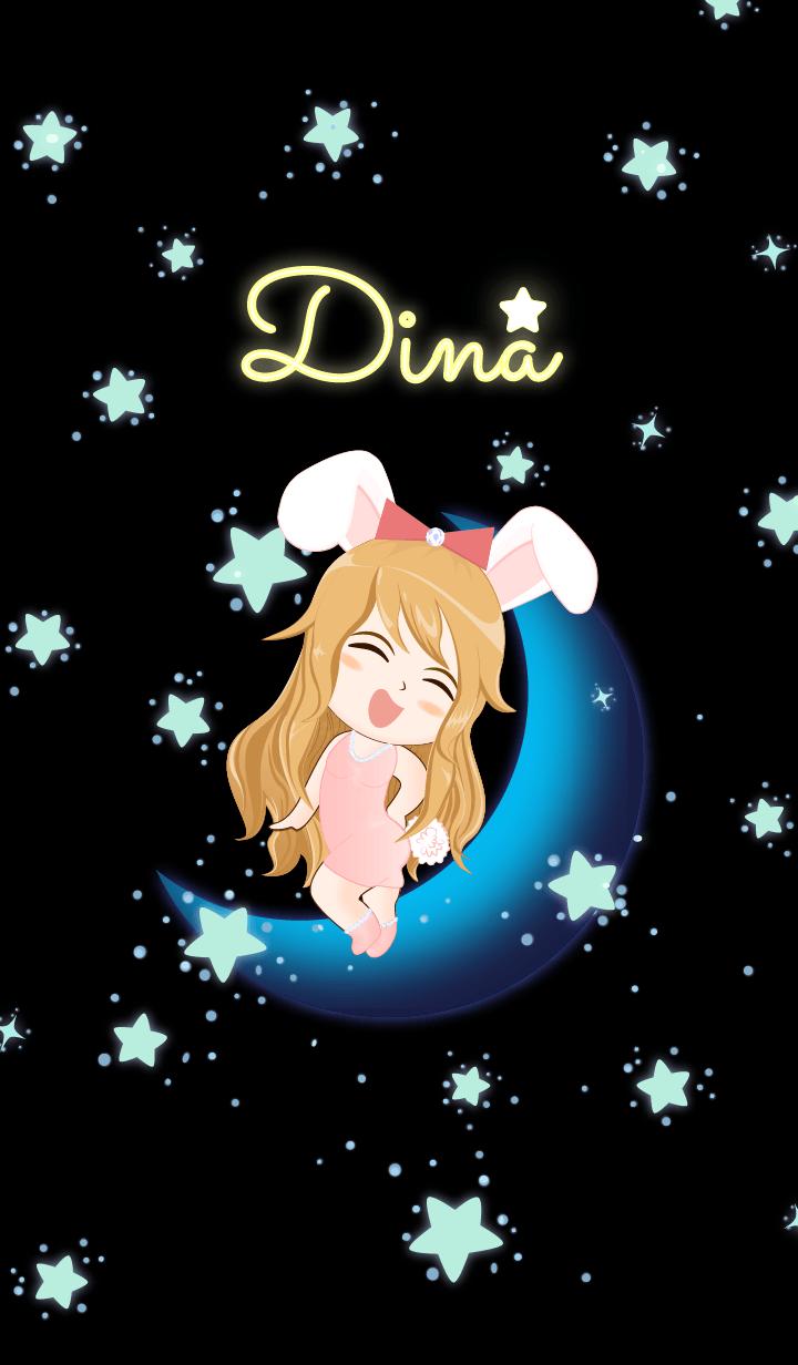 Dina- Bunny girl on Blue Moon