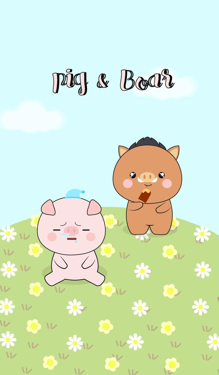 Love Cute Boar & Pig (jp)
