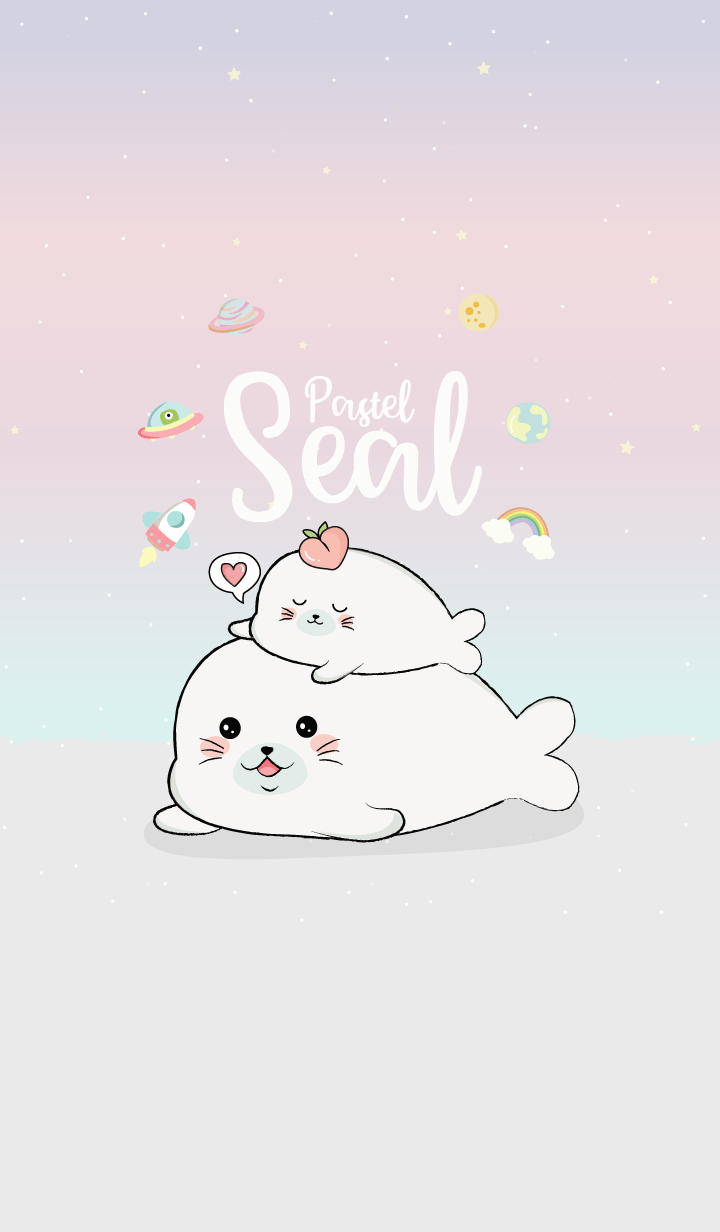 Seal Cute (Space Pastel)