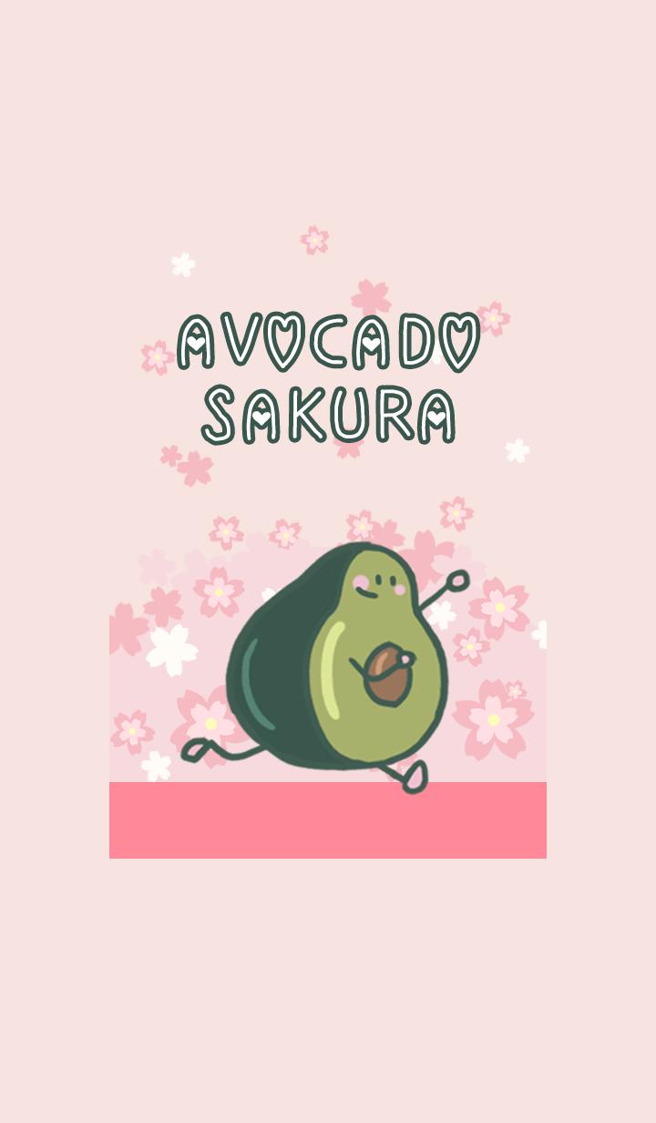 misty cat-avocado Cherry blossoms pink