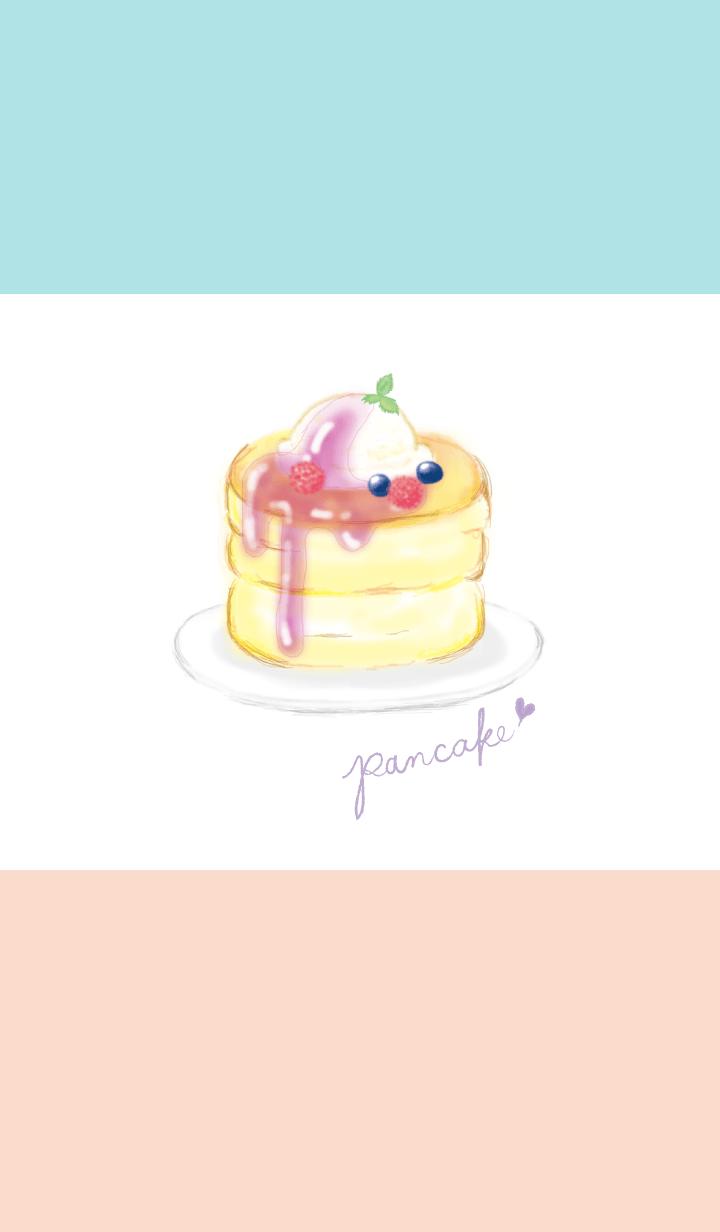 Ice cream on pancake/watercolor WV