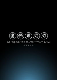 SILVER LIGHT ICON THEME -Azure Blue-