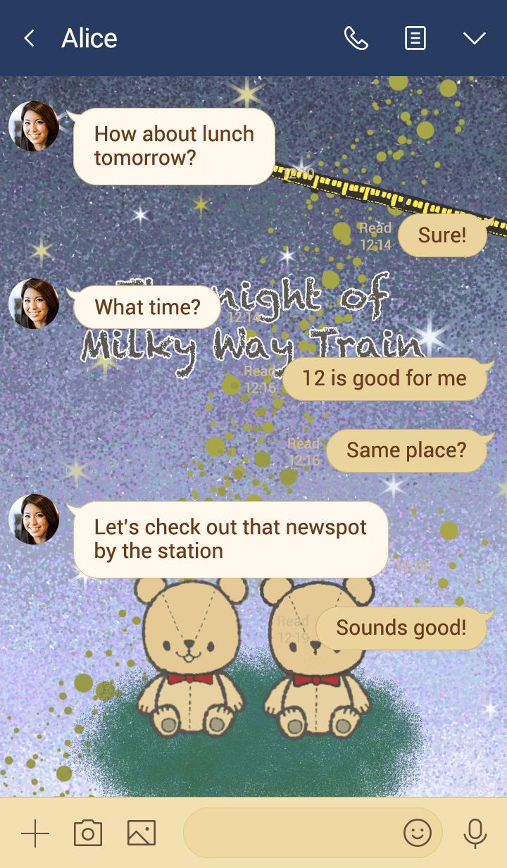 The night of Milky Way Train