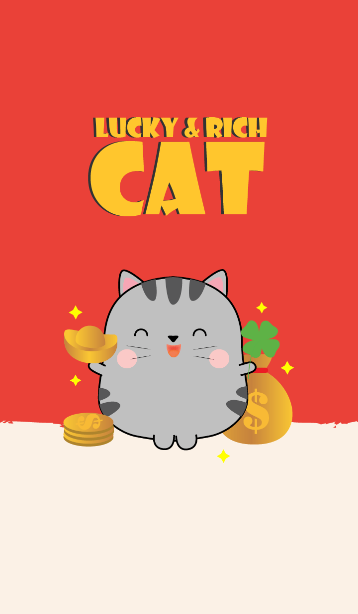 Lucky & Rich Grey Cat